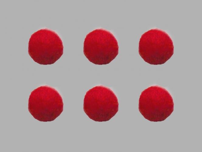 Jim Knopf Filzkugel Nr. 11811-09, Farbe 09 rot