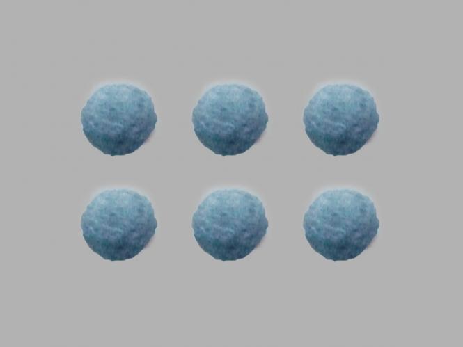 Jim Knopf Filzkugel Nr. 11811-16, Farbe 16 blau