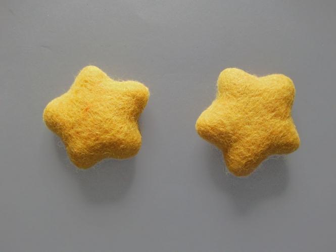 Jim Knopf Filzstern groß Nr. 12335-90-05, Farbe 05 gelb
