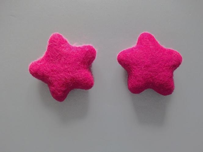 Jim Knopf Filzstern groß Nr. 12335-90-06, Farbe 06 pink
