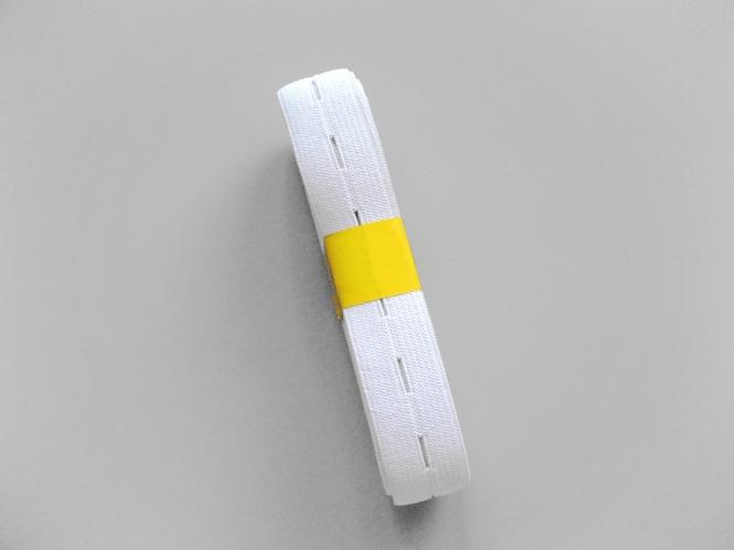 Knopflochgummi Nr. 29863300-w, Farbe weiß