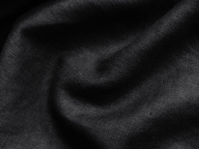 Leinenstoff Barcelona L733-999, Farbe 999 schwarz
