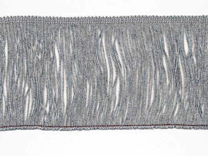 Lurex-Fransenborte silber 8818s-12, Breite ca. 11,5 cm