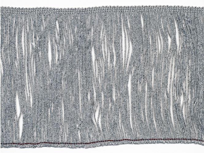 Lurex-Fransenborte silber 8818s-15, Breite ca. 14,5 cm