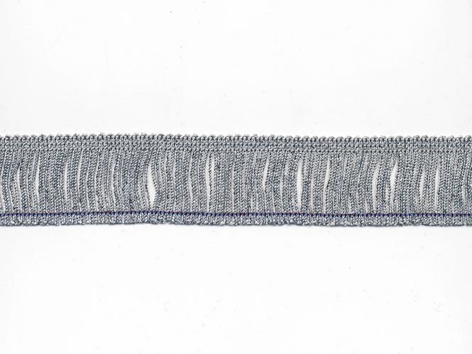 Lurex-Fransenborte silber 8818s-04, Breite ca. 4 cm