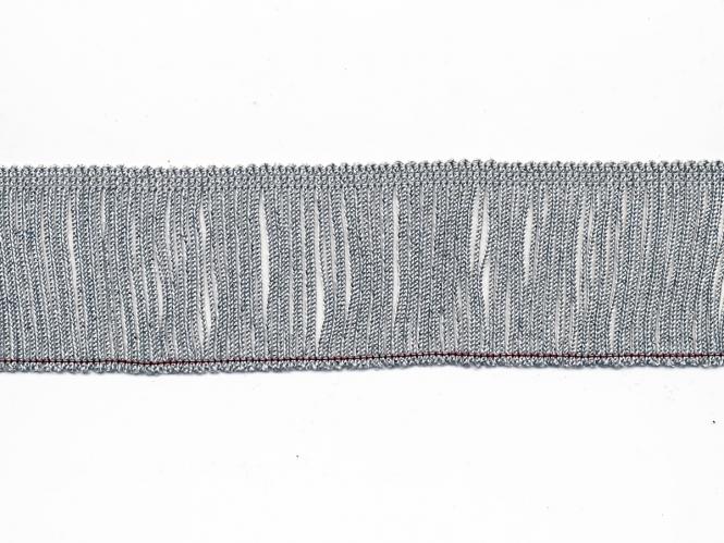 Lurex-Fransenborte silber 8818s-06, Breite ca. 6 cm