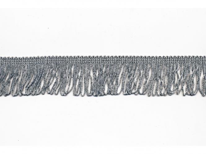 Lurex Schlingen-Fransenborte silber 8818su