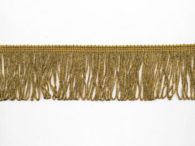 Lurex Schlingen-Fransenborte gold Nr. 8818gu-06, Breite ca. 6 cm