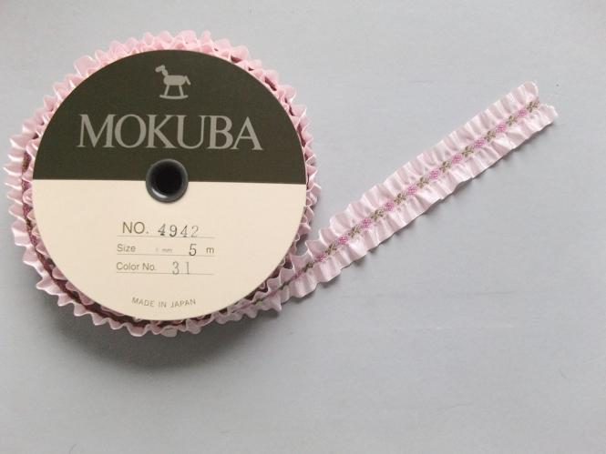 Mokuba Frilled Ribbon bestickt Nr. 4942-31