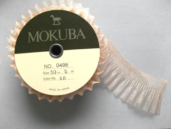 Mokuba Pleated Organdy Ribbon Nr. 0498-50
