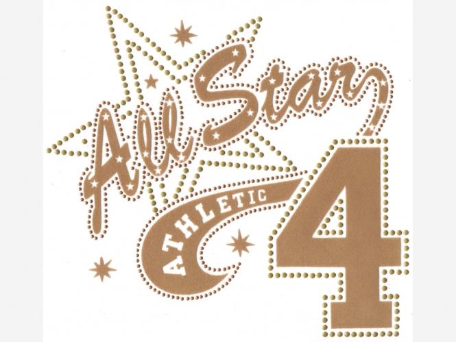 Nieten-/Stoff-Bügelmotiv PS 010 - All Stars 4 Athletic