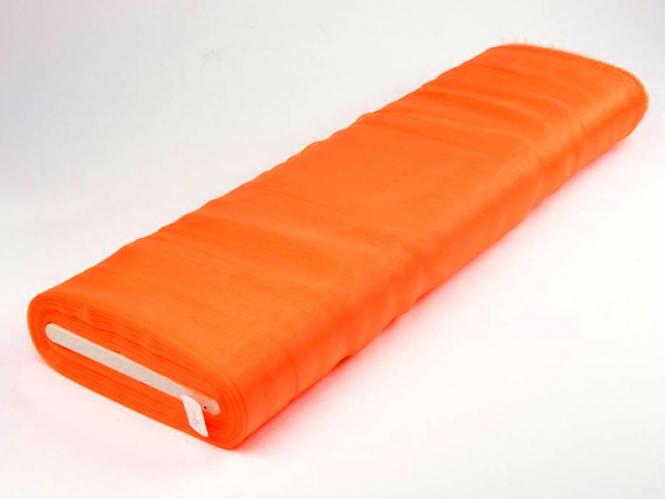 Organzastoff - Organza uni L720a-21, Farbe 21 orange