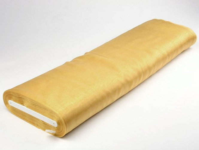 Organzastoff - Organza uni L720a-25, Farbe 25 gold
