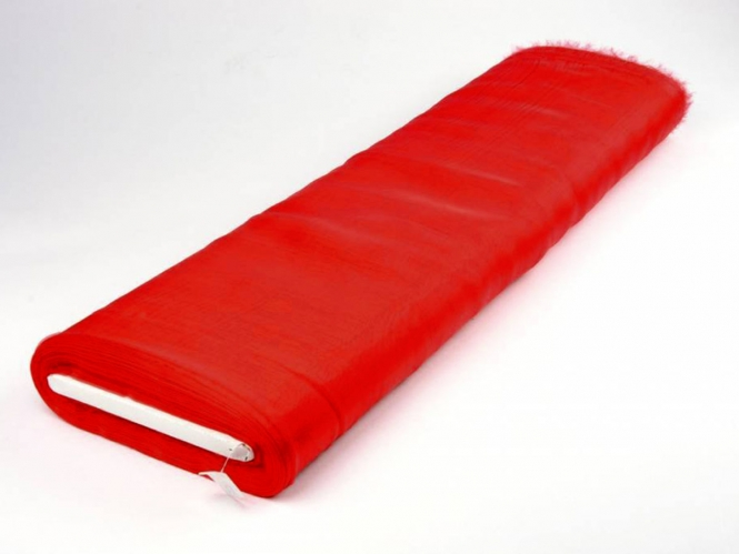 Organzastoff - Organza uni L720a-56, Farbe 56 rot