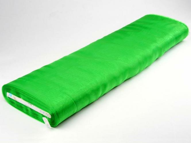 Organzastoff - Organza uni L720a-83, Farbe 83 blattgrün