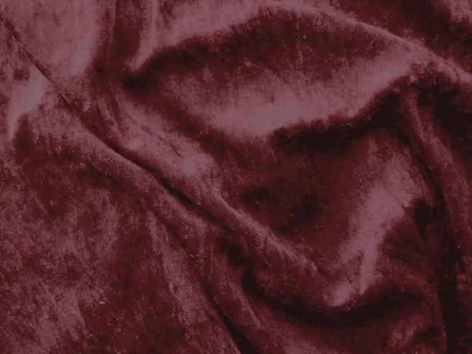 Pannesamt uni L724-30, Farbe 30 weinrot