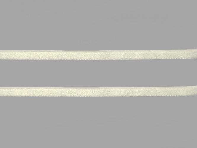 Samtband uni Nr. 10114-1100, Farbe 1100 creme