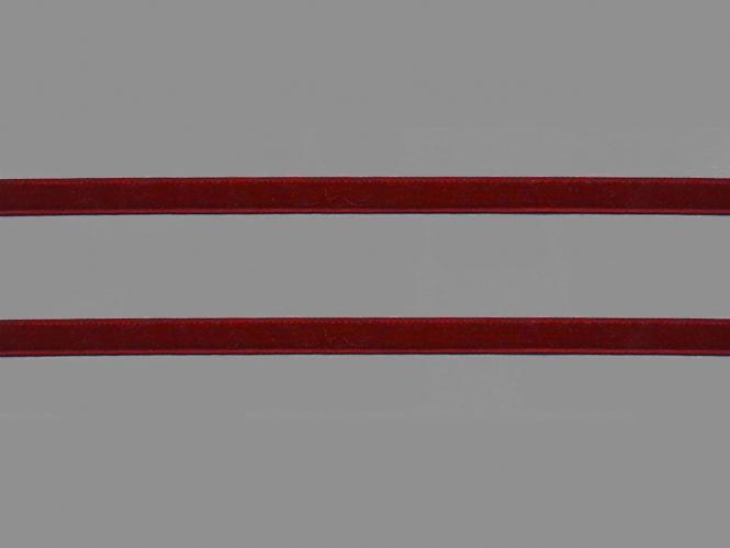 Samtband uni Nr. 10114-3800, Farbe 3800 dunkelrot