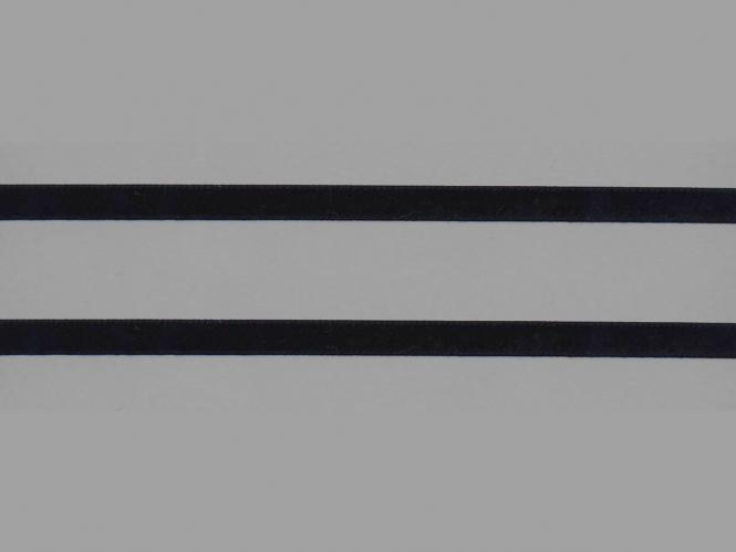 Samtband uni Nr. 10114-9000, Farbe 9000 schwarz