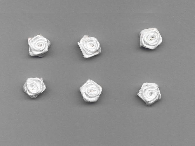 Satinrose R104-029, Farbe weiß