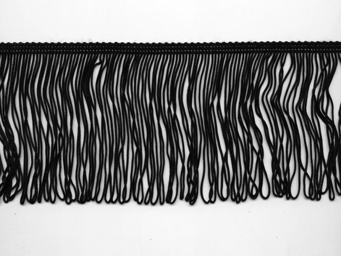 Schlingen-Fransenborte schwarz 8547u-10, Breite ca. 10 cm