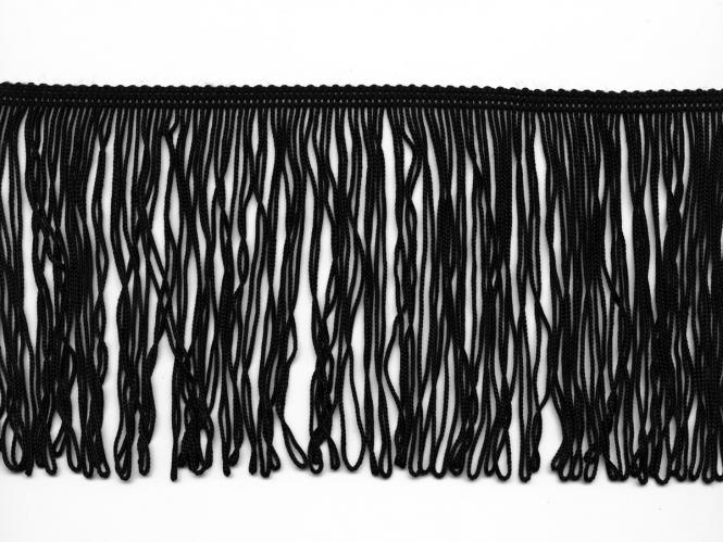 Schlingen-Fransenborte schwarz 8547u-12, Breite ca. 12 cm