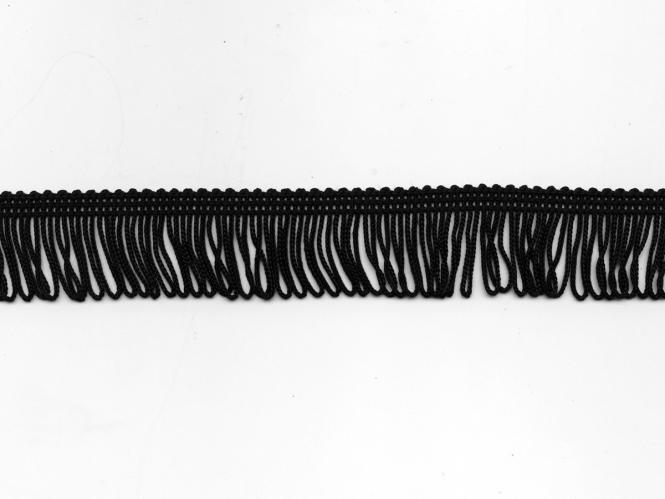 Schlingen-Fransenborte schwarz 8547u-03, Breite ca. 3 cm