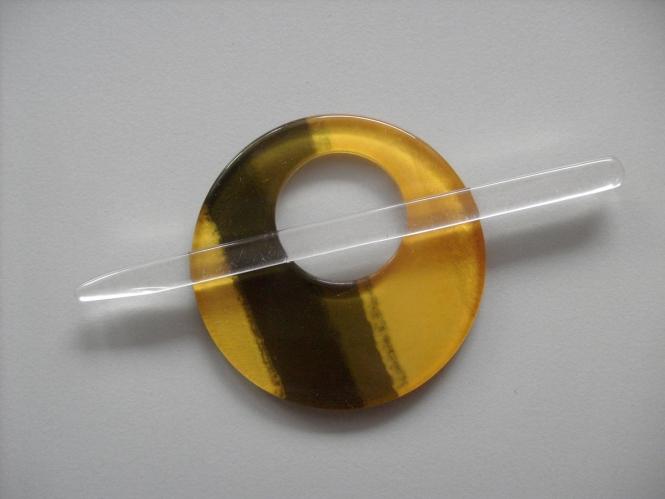 Schmuckschließe rund Nr. DK02211/90-74, Farbe 74 gelb