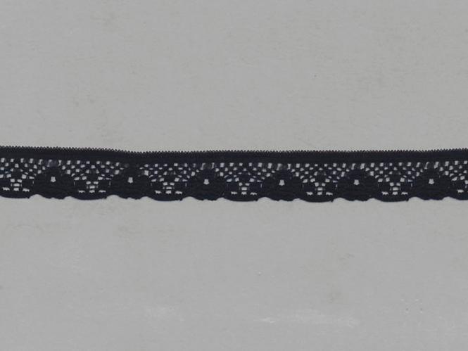 Spitze mit einseitiger Bogenkante Nr. 70622-9000, Farbe 9000 schwarz