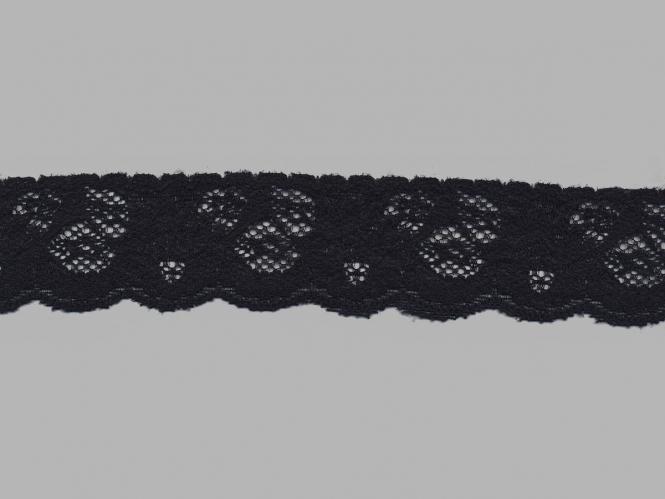 Elastische Spitze Nr. 70637-9000, Farbe 9000 schwarz