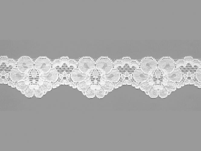 Elastische Spitze Nr. 70638-1000, Farbe 1000 weiß