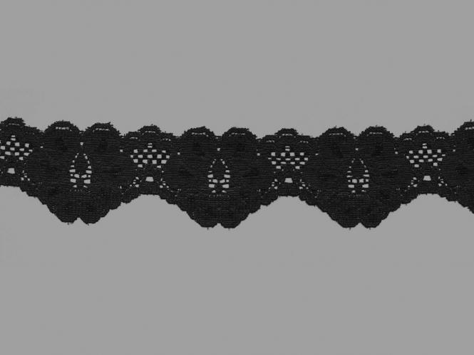 Elastische Spitze Nr. 70638-9000, Farbe 9000 schwarz