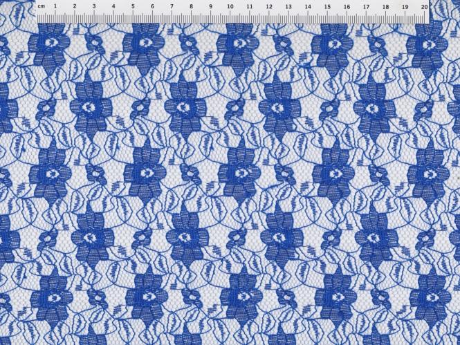 Spitzenstoff L727-16 mit Blumenmuster, Farbe 16 königsblau
