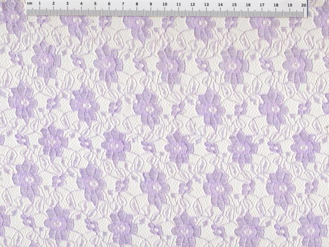 Spitzenstoff L727-31 mit Blumenmuster, Farbe 31 lila