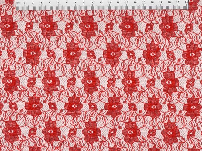 Spitzenstoff L727-56 mit Blumenmuster, Farbe 56 rot