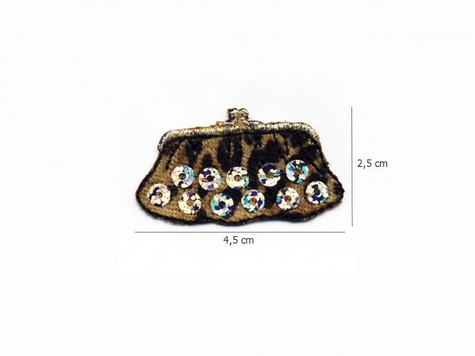 Stoffapplikation JH-SM1743-2251 - Handtasche mit Pailletten