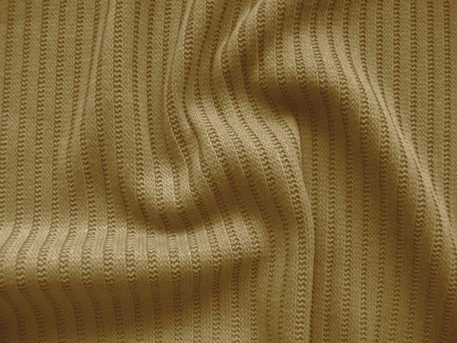 Strickstoff-Rippenstrick 473210 in camel-braun