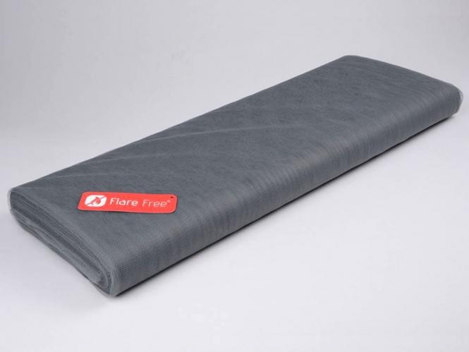 Tüllstoff - Tüll uni L722-54, Farbe 54 Dark Grey
