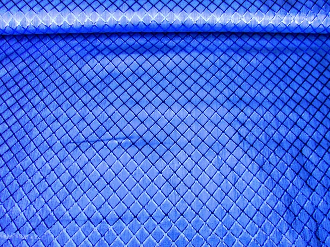 Jacquardstoff CA1005-004 königsblau mit Rautenmuster