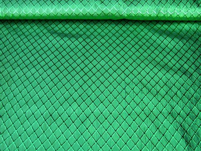 Jacquardstoff CA1005-008 grün mit Rautenmuster