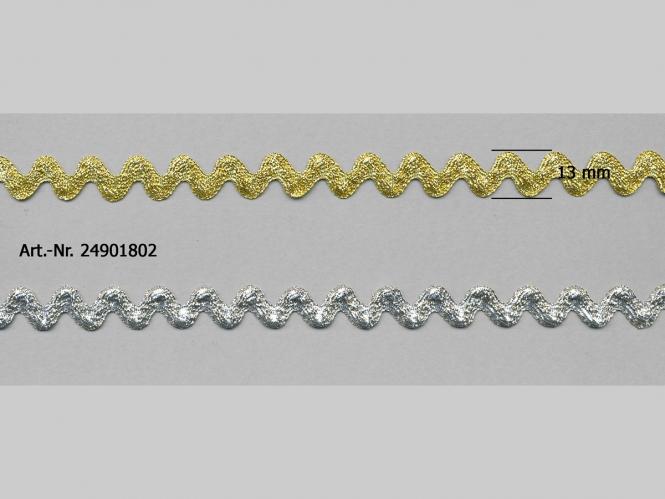Lurex-Zackenlitze 24901802, Breite ca. 6 mm