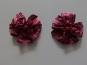 Blumenapplikation Nr. 56058846-04 mit Satinrosen und Strasssteinen, Farbe 04 bordeaux