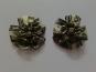 Blumenapplikation Nr. 56058846-07 mit Satinrosen und Strasssteinen, Farbe 07 dunkelgrün
