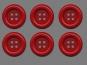 Clowns-Knöpfe 10115107-106rt, Farbe rot