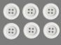 Clowns-Knöpfe 10115107-106ws, Farbe weiß