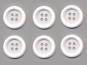 Clowns-Knöpfe 10115091-80ws, Farbe weiß