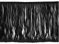 Fransenborte schwarz 8547-15, Breite ca. 14,5 cm