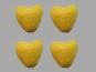 Jim Knopf Filzherz Nr. 11845-03, Farbe 03 gelb