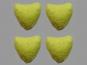 Jim Knopf Filzherz Nr. 11845-11, Farbe 11 erbsgrün