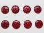 Knopf kariert - Vichyknopf Nr. 6485-28-5, Farbe 5 rot/schwarz